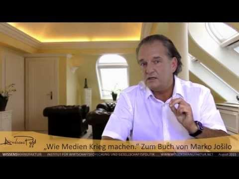 """""""Wie Medien Krieg machen."""" Andreas Popp zum Buch von Marko Jošilo"""