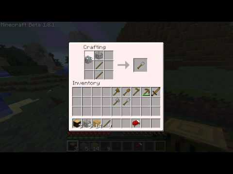 how to make a stone hoe in minecraft