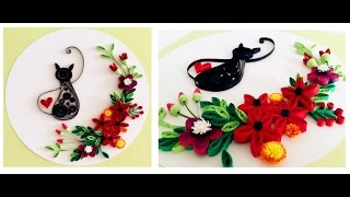 Quilling Flower Decoration Series // Quilling Flower 11 Learning Video