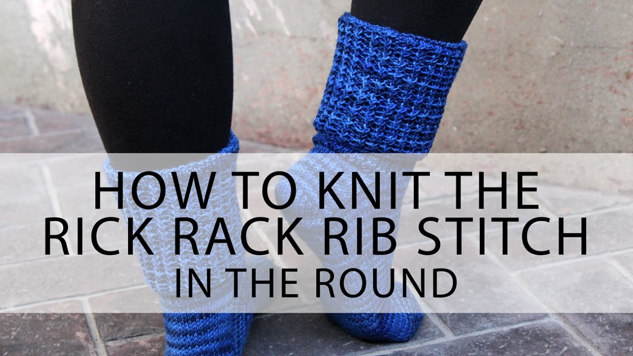 Knit Rick Rack Stitch In The Round : How to Knit the Rick Rack Rib Stitch in the Round Hands Occupied - YouTube