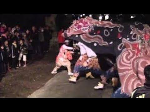 富山県高岡市伝統芸能獅子舞の家庭訪問(toya ma prefecturelion danse)