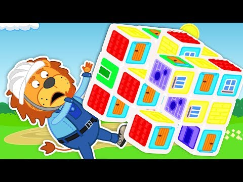 Lion Family 📚 Colorful Playhouse Of Toy Blocks Pretend Play