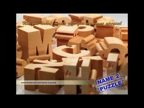 Wooden Name Puzzles - Unique Personalized Gifts