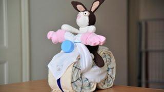 Babyzauber - Bastelanleitung für ein Windelmotorrad