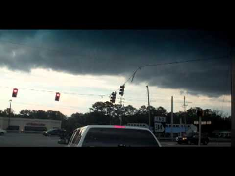 Driving Through Tornado - Like Storm Conditions In Suburban Atlanta, Geo...