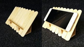 How to make a mobile stand by using ice cream sticks/popsicle sticks