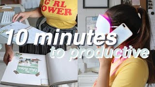 10 Productive Things to Do in 10 Minutes