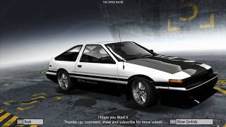 Need for Speed ProStreet - Toyota Corolla GTS (AE86) Drift - Customization