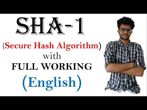 SHA-1 (Secure hash Algorithm) working in hindi | CSS series