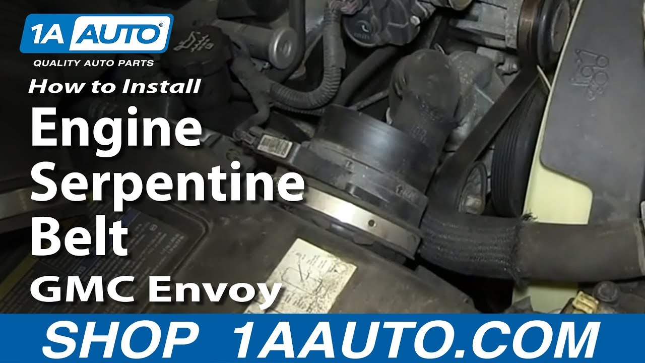 how to install replace engine serpentine belt v8 5 3l gmc envoy and xl xuv youtube [ 1920 x 1080 Pixel ]