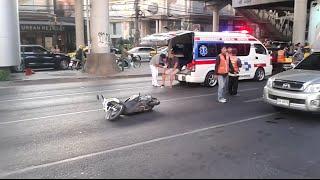 Motorbike Accident Aftermath - Asok, Bangkok