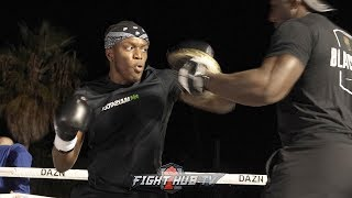 KSI LETTING HIS HANDS GO ON THE MITTS - READY FOR LOGAN PAUL REMATCH Video