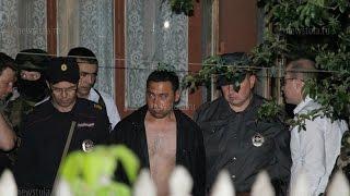 Тула. Убийцу семьи из пяти человек привезли на место происшествия. 30.05.2015