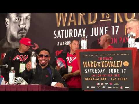 Post News Event for Ward vs Kovalev and Kathy Duva screams, shouts at media