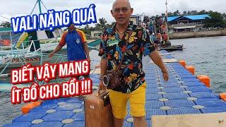 Boracay (P.2)| Đi cầu phao vác vali từ cảng Tabon ra đảo Boracay cảm giác thật Yomost