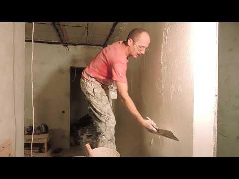 видео: Шпаклёвка стен с помощью валика