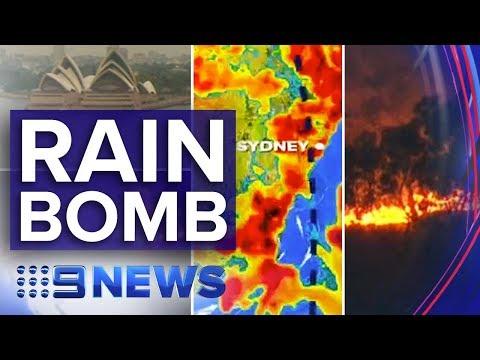 Major rain event hits Australia's bushfire zones | Nine News Australia