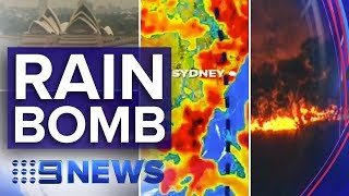 Major rain event hits Australia's bushfire zones | Nine News Australia