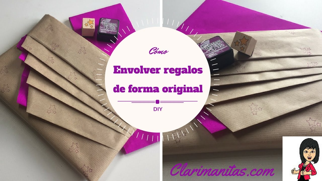 Envolver regalos de forma original youtube for Como envolver un regalo original