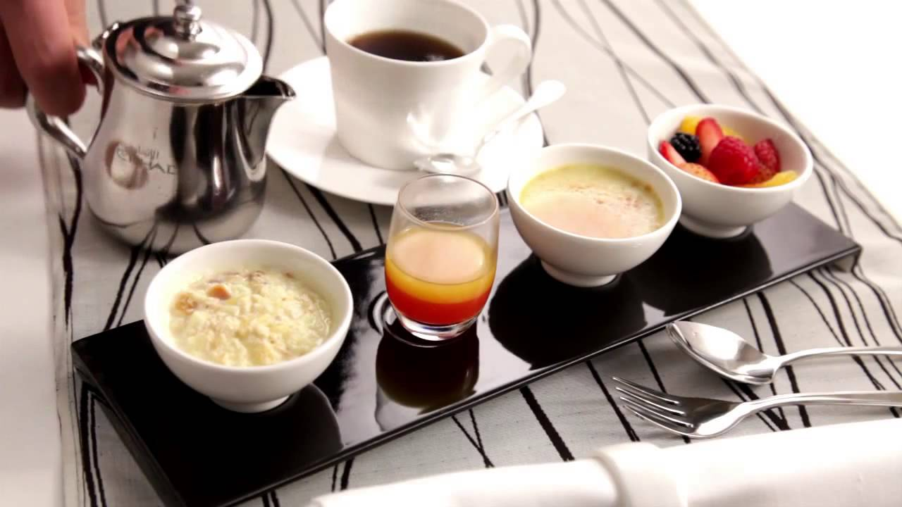 First & Business Class Food- Etihad Airways - YouTube