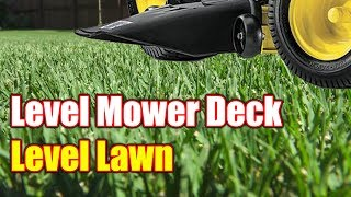 Leveling Mower Deck