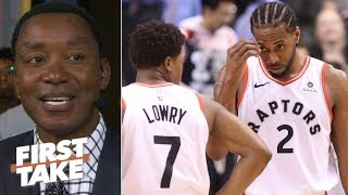 Isiah Thomas is rooting for Kyle Lowry to step up for Kawhi, but doubts if he can | First Take
