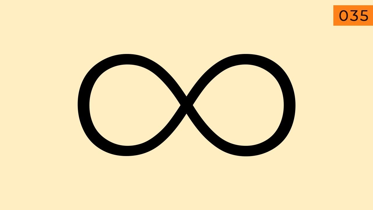How to create an infinity symbol in Illustrator (Tutorial)