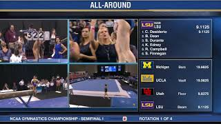 NCAA Women's Gymnastics Championships 2019 (All-Around, Semifinal #1)