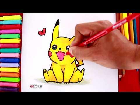 Aprende a dibujar y pintar a PIKACHU Kawaii | How to Draw a Cute Pikachu Easy