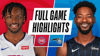 PISTONS at MAGIC | FULL GAME HIGHLIGHTS | February 23, 2021