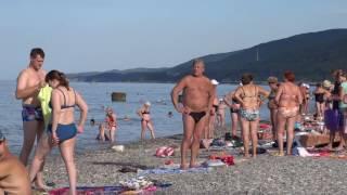 пляж в лазаревском видео