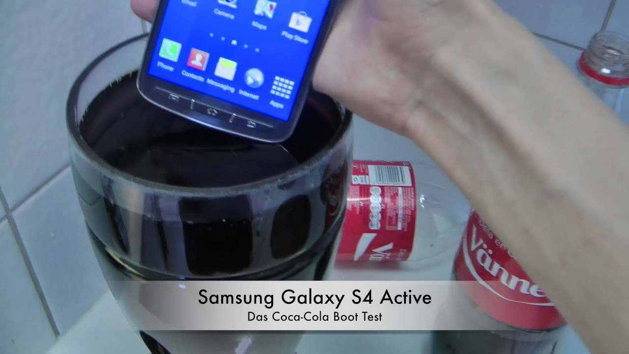 Samsung Galaxy S4 Active - Das Coca-Cola Boot Test