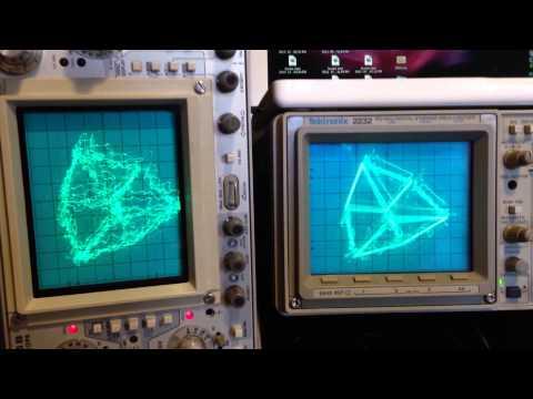 Oscillofun Mp3 Vs Flac XY Tektronix 2232 465B
