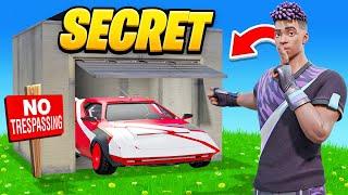 Finding the *SECRET* CAR in FORTNITE!