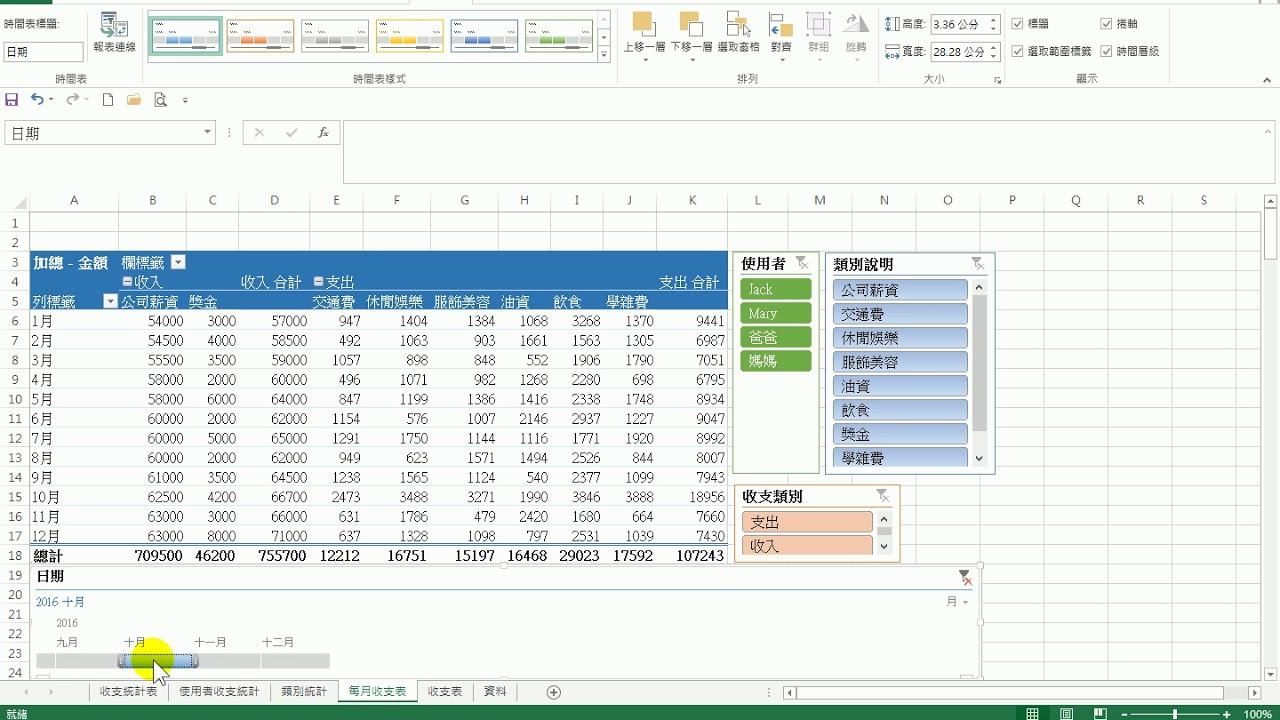 【Excel樞紐分析表】19 樞紐分析表 插入時間表 - YouTube