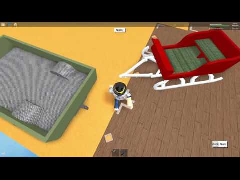 Roblox: Lumber Tycoon 2: Val's hauler drive off high platform with sleigh