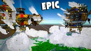 Giant Airship Battles!  Steampunk Battleships in the Sky (Airmen Gameplay)