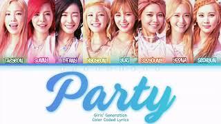 [#13YearsWithGG] Girls' Generation (소녀시대) - Party Lyrics…