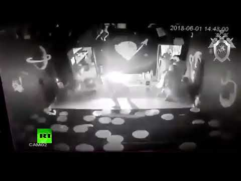 Момент возгорания в иркутском ТЦ «КомсоМОЛЛ» попал на видео