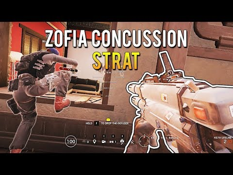 Zofia Concussion Grenade Strategy - White Noise Ranked Highlights   Rainbow Six Siege