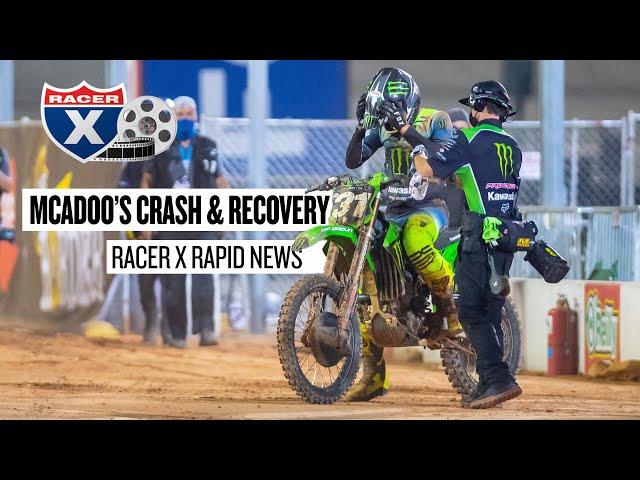 Cameron McAdoo's Atlanta 2 Crash & Recovery   Racer X Rapid News