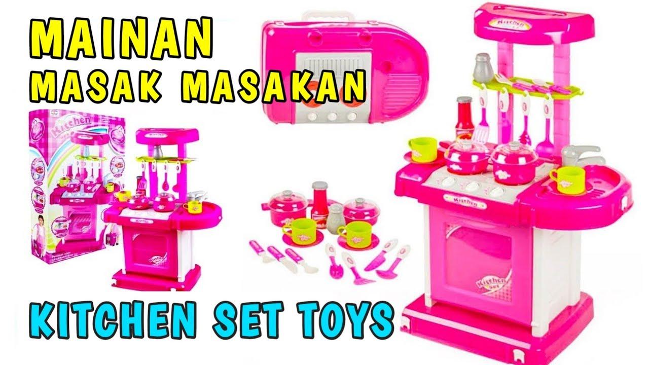 Mainan Anak Kitchen Set Besar Unboxing Mainan Masak Masakan Anak Anak Mainan Anak Perempuan Youtube