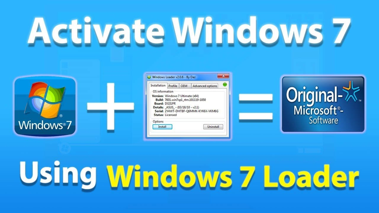 windows 7 loader free download for all version