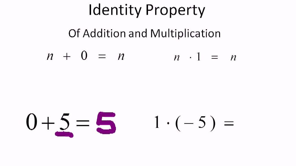 Identity Property of Addition and Multiplication - YouTube