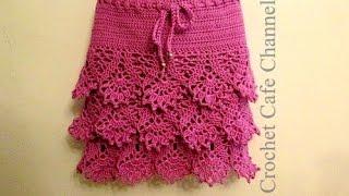 كروشيه جيب \ تنورة بأى مقاس | #كروشيه كافيه Crochet Cafe#