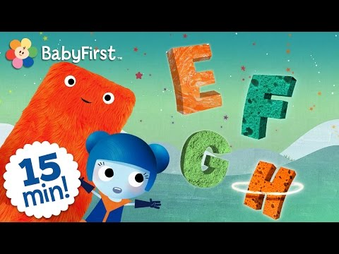 ABC -  The letters E, F, G, H | Learn the Alphabet with ABC Galaxy compilation