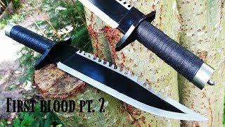 Knife making - Rambo knife from first blood part 2