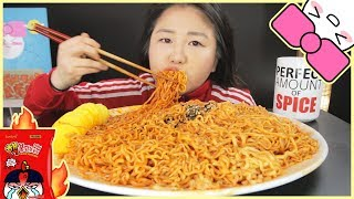 10X SPICY NUCLEAR FIRE MINI NOODLE CHALLENGE!! l GIVEAWAY