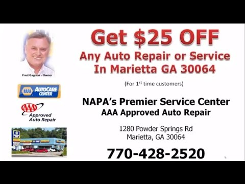 Auto Repair Marietta GA | AAA Approved | $25 OFF Any Service Call: 770-428-2520