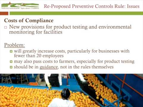 The Food Safety Modernization Act Webinar